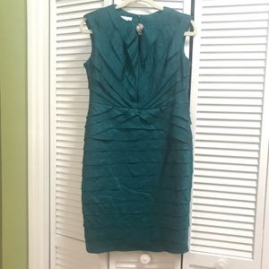 London Times emerald green dress size 12P.